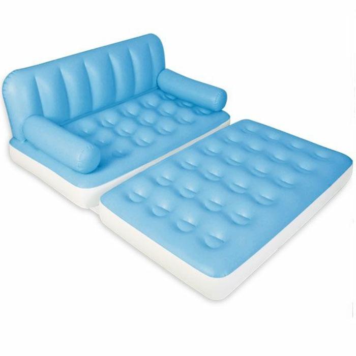 canapé-gonflable-convertible-ikea-de-couleur-blanc-et-bleu