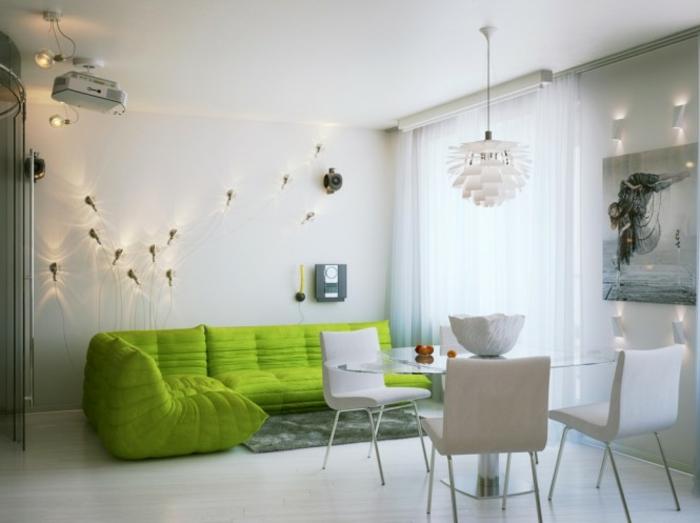 canapé-togo-fauteuils-géants-verts-petit-salon