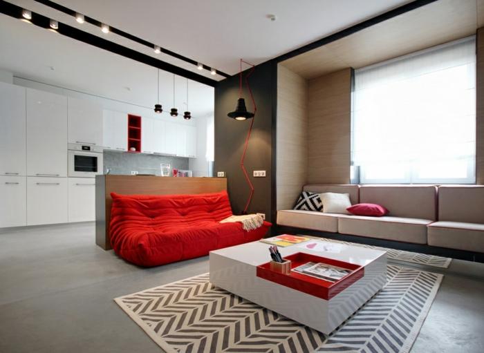 canapé-togo-joli-studio-salle-de-séjour-avec-cuisine