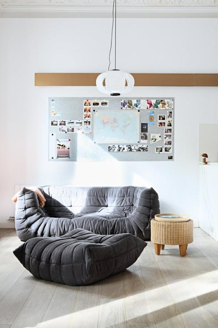 les beaux d cors avec le canap togo l gendaire. Black Bedroom Furniture Sets. Home Design Ideas