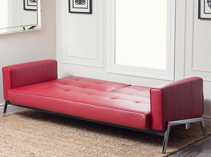 canapés-convertibles-canapé-transformable-rouge-magnifique