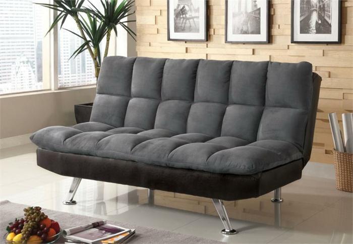 canapés-covertibles-canapé-gris-futon