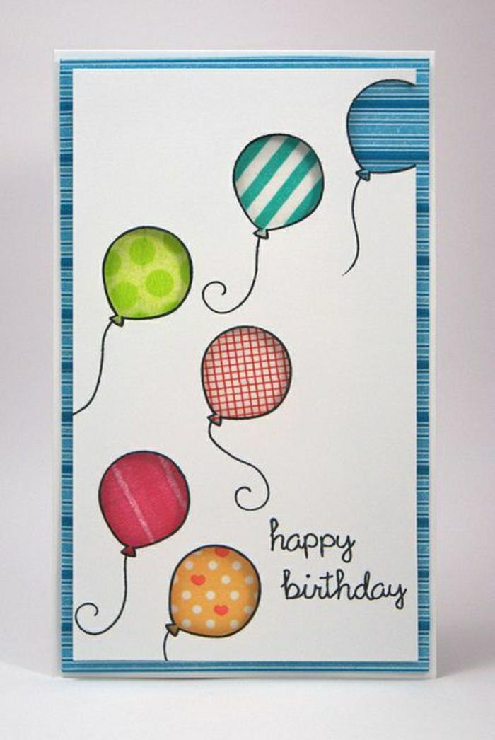 carte-d-anniversaire-décoration-anniversaire-carte-dromataire-coloré-balons-cartes-virtuelles