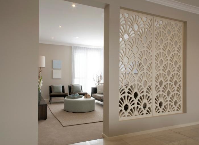 chambre-avec-séparateur-de-pièce-meuble-séparation-pièce-blanche-créative-idée