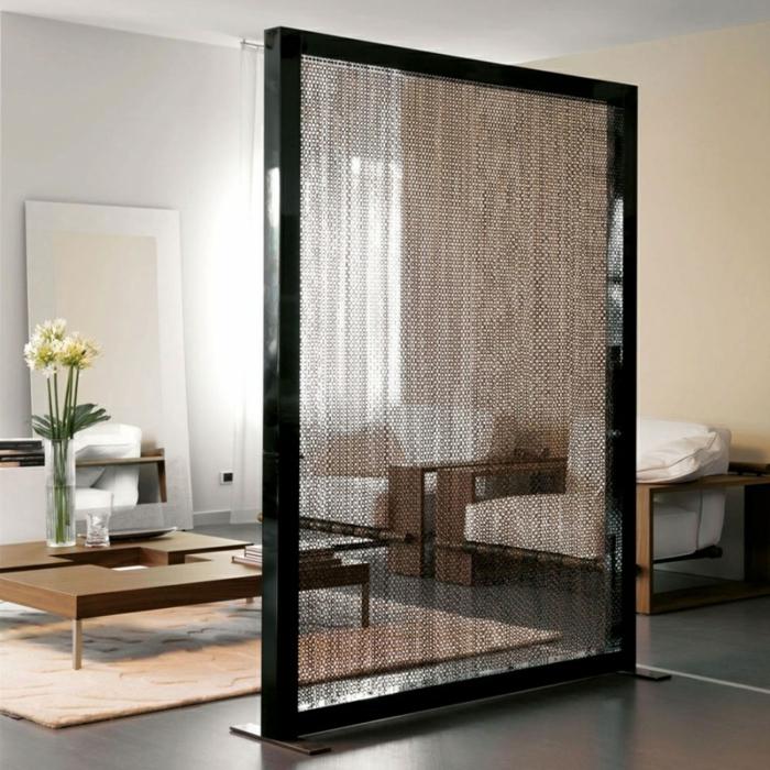 chambre-avec-séparateur-de-pièce-meuble-séparation-pièce-cool
