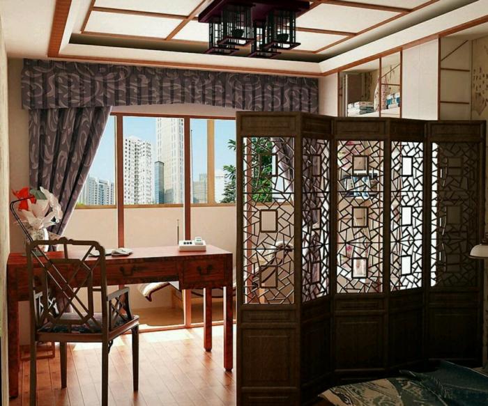 chambre-avec-séparateur-de-pièce-meuble-séparation-pièce-salle-à-manger