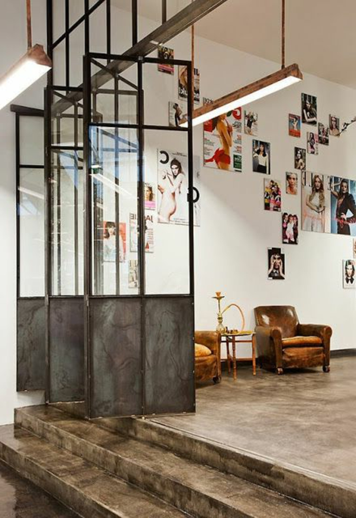 53 photos pour trouver la meilleure cloison amovible for Deco sejour atelier
