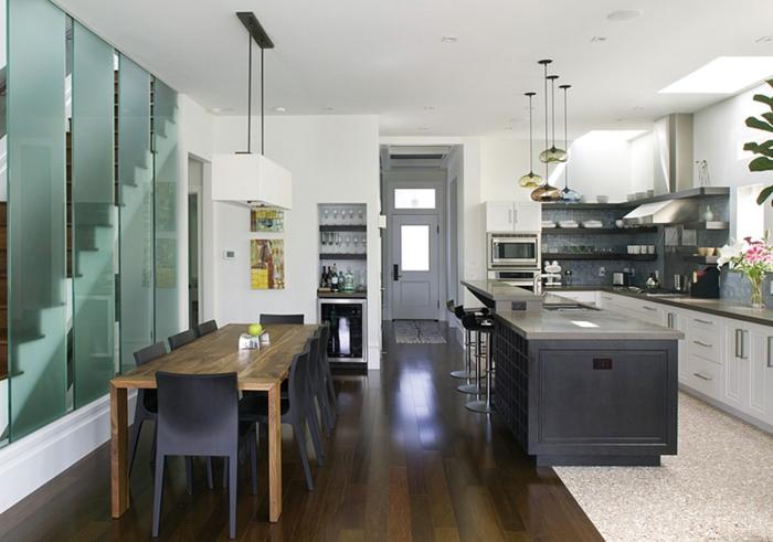 cloison amovible cuisine vintage cuisine inspiration avec cloison amovible style atelier en. Black Bedroom Furniture Sets. Home Design Ideas