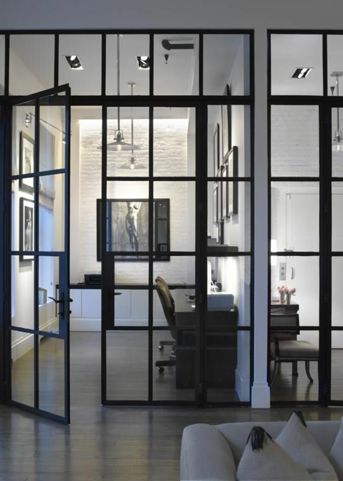 Claustra Interieur Ikea ~ Cloison Amovible Ikea En Fer Noir Et Verre,  Séparer Les Chambres