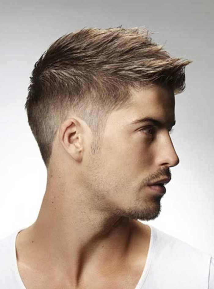 coiffure homme court sans gel