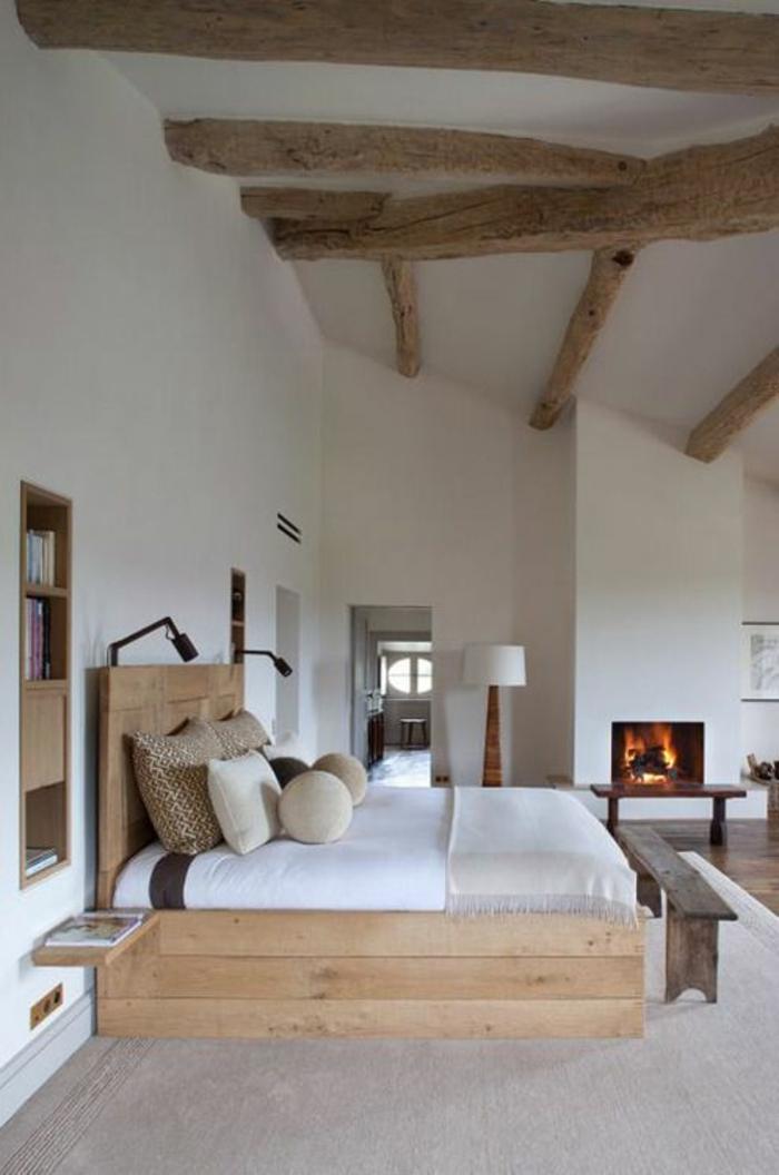 comment-aménager-la-suite-parentale-idée-aménagement-moderne-lit-en ...