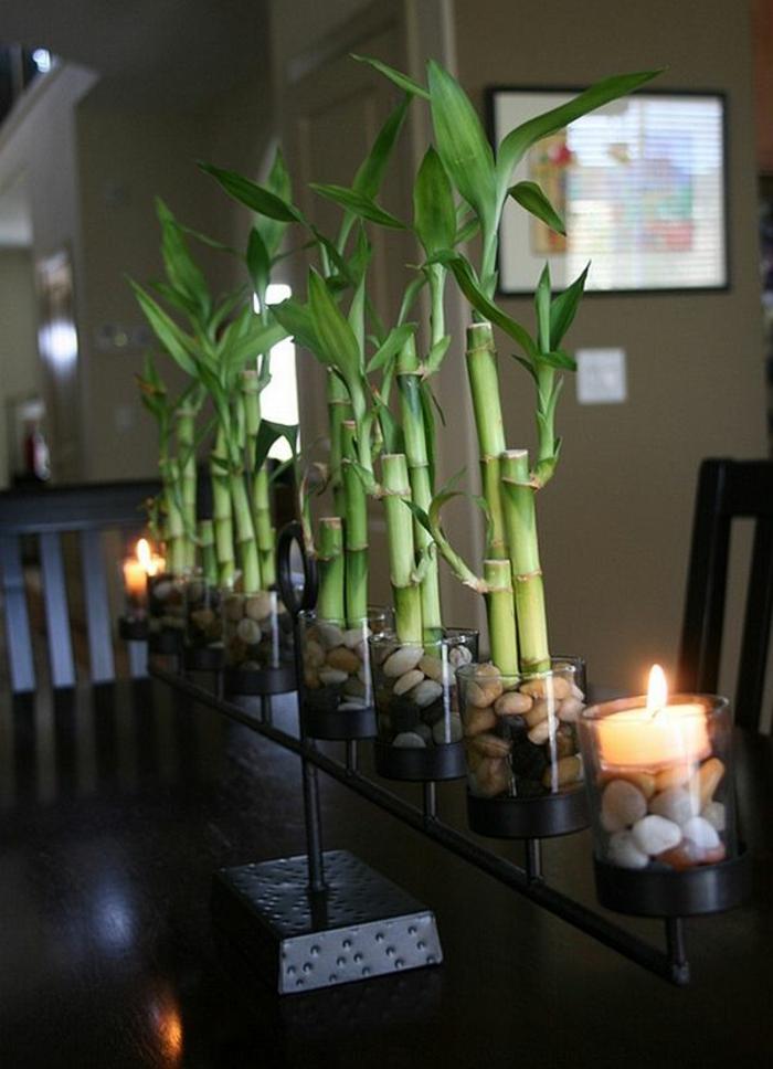 comment-décorer-sa-chambre-avec-plantes-vertes-table-de-salon-moderne-peintures-murales