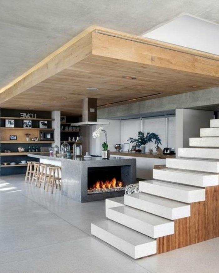 comment-et-où-poser-un-îlot-de-cuisine-pas-cher-et-escalier-de-cuisine
