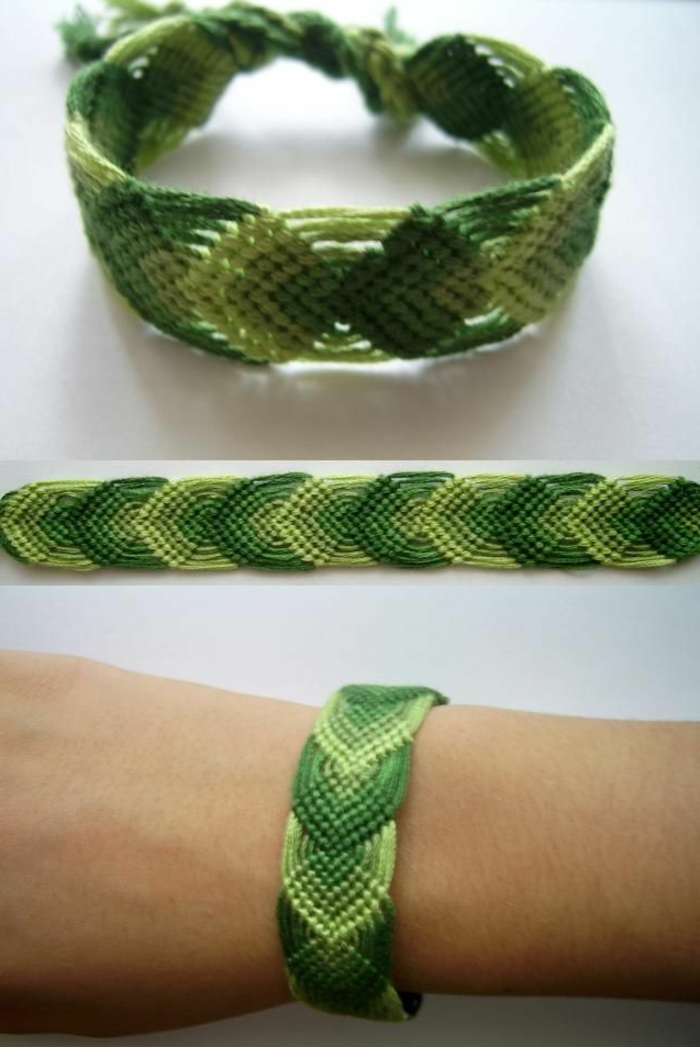 comment-faire-des-bracelets-brésiliens-idée-pour-bracelets-brésiliens-colorées-bracelet-brésilien-technique-bracelet-vert
