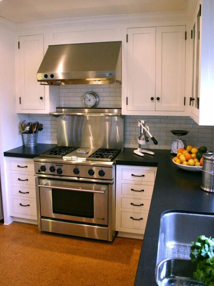 crédence-cuisine-credence-inox-ikea-meubles-de-cuisine-credence-cuisine-castorama-noir-meubles-sol-en-lino