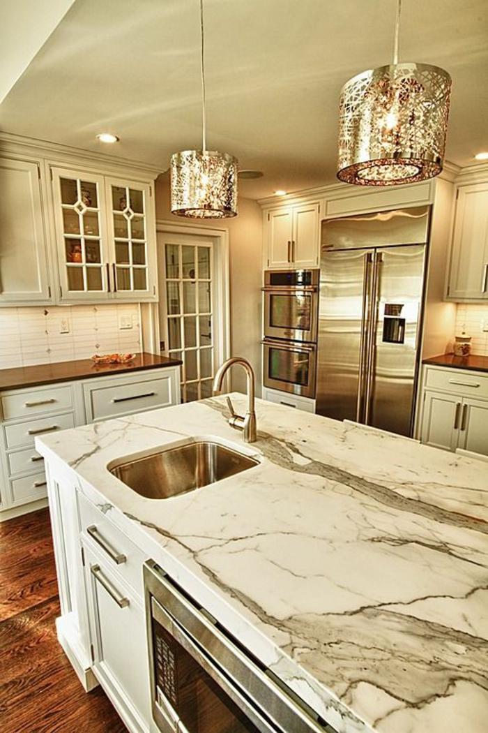 Credence inox cuisine ikea une jolie cuisine blanche avec une cr dence de c - Credence blanche ikea ...