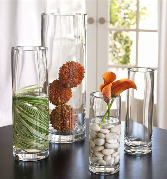 Idee Decoration Vase En Verre Transparent