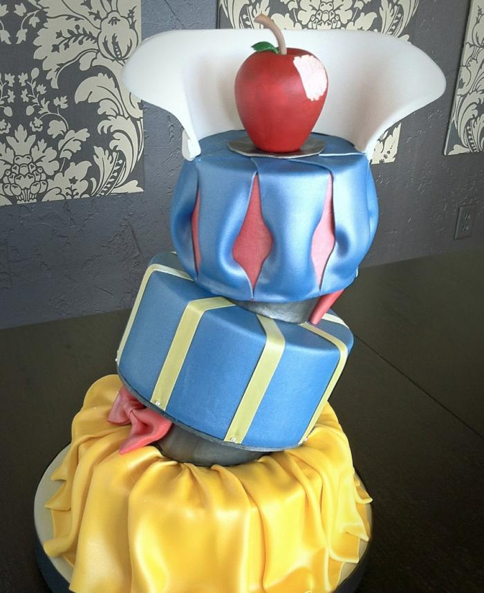 déco-gateau-anniversaire-enfant-Disney-snow-white-conte-de-fée-le-gateau