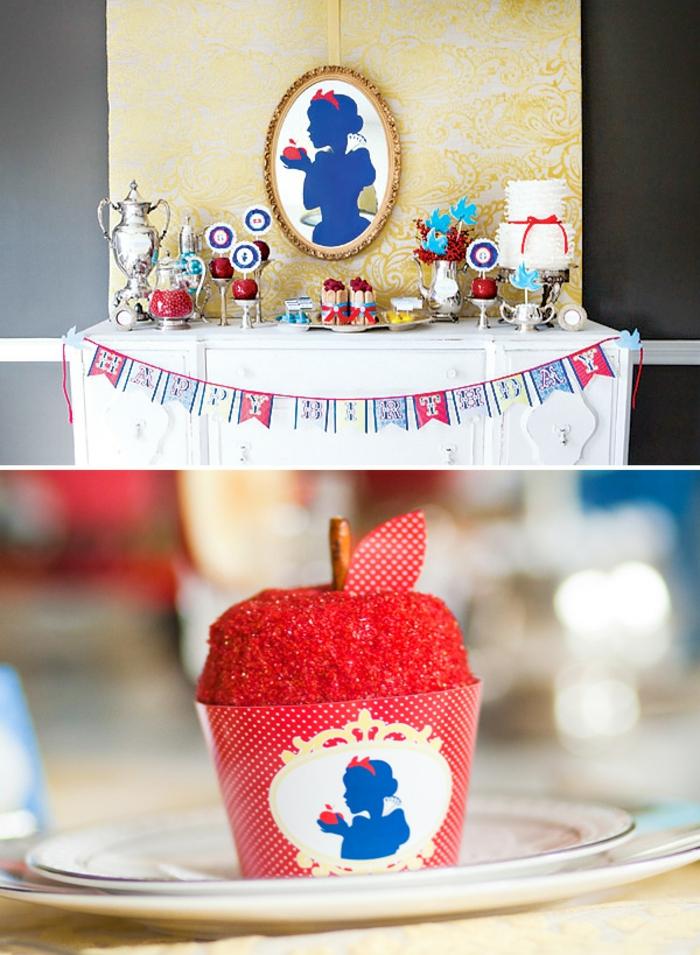 déco-gateau-anniversaire-enfant-Disney-snow-white-conte-de-féetable