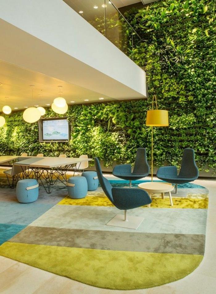 décoration-japonaise-style-japonaise-chambre-japonaise-meubles-japonaises-mur-de-plantes-vertes