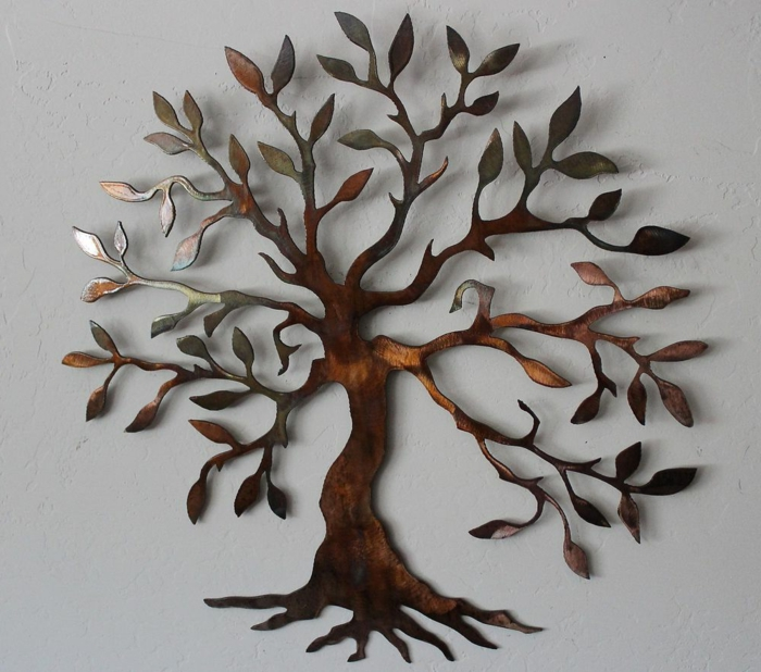 La d coration murale en m tal touches d 39 l gance pour l for Decoration murale arbre de vie