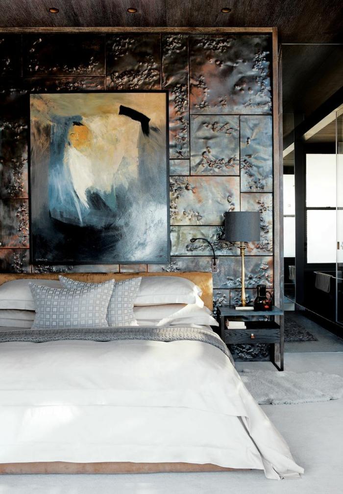 décoration-murale-en-métal-joli-parement-métallique