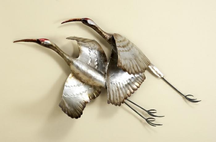 décoration-murale-en-métal-oiseaux-en-vol
