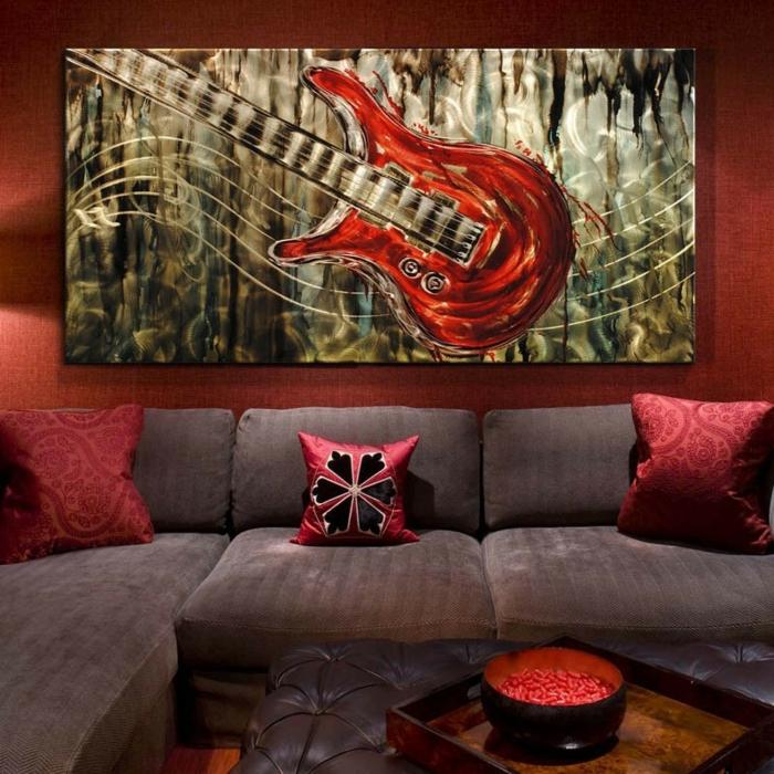 décoration-murale-en-métal-peintures-sculptures-modernes