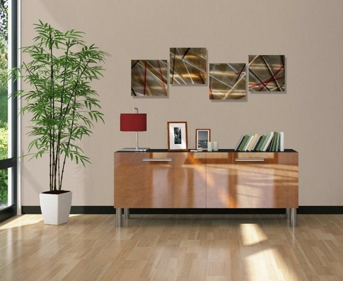 décoration-murale-en-métal-quatre-panneaux-décoratifs
