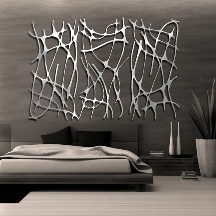 la d coration murale en m tal touches d 39 l gance pour l. Black Bedroom Furniture Sets. Home Design Ideas