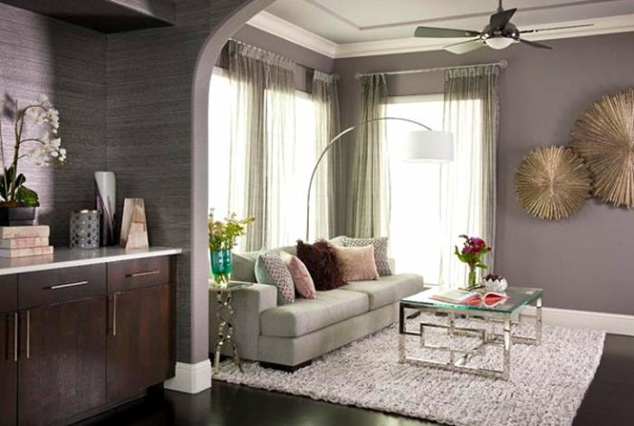 décoration murale en métal, art abstrait, petite salle de séjour