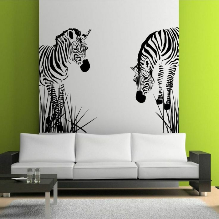 Le tapis z bre en 50 photos avec beaucoup d 39 id es for Deco murale zebre