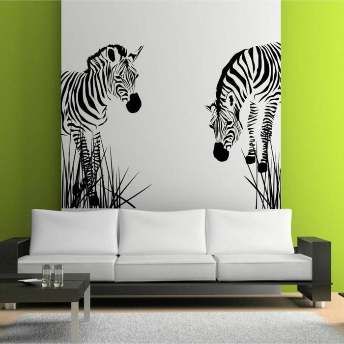 Le tapis z bre en 50 photos avec beaucoup d 39 id es for Pochoir a peindre sur mur