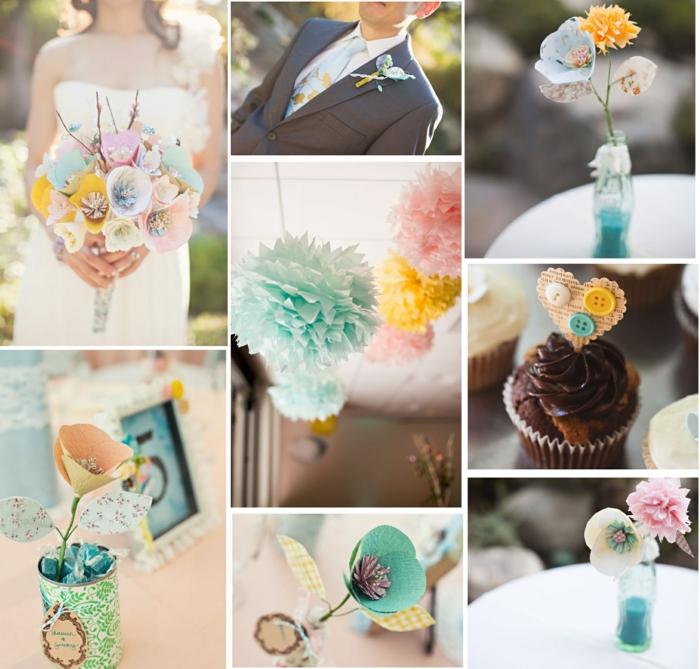 deco-mariage-champetre-deco-mariage-discount-idées-fleurs-de-mariée-en-papier