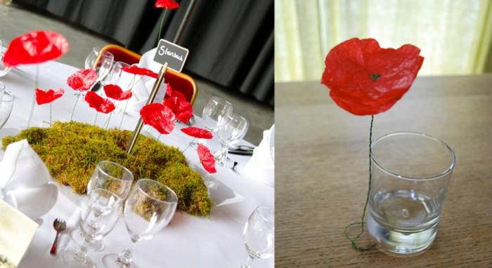 deco-pour-mariage-magasin-deco-mariage-idée-diy-rouge-fleurs-centre-table