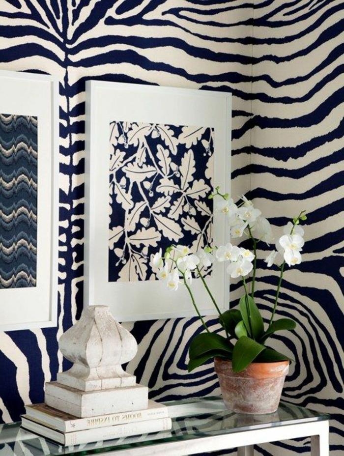 deco-zebre-murs-à-rayures-blanc-noir-plante-verte-d-intérieur-deco-zebre-murs-zebre