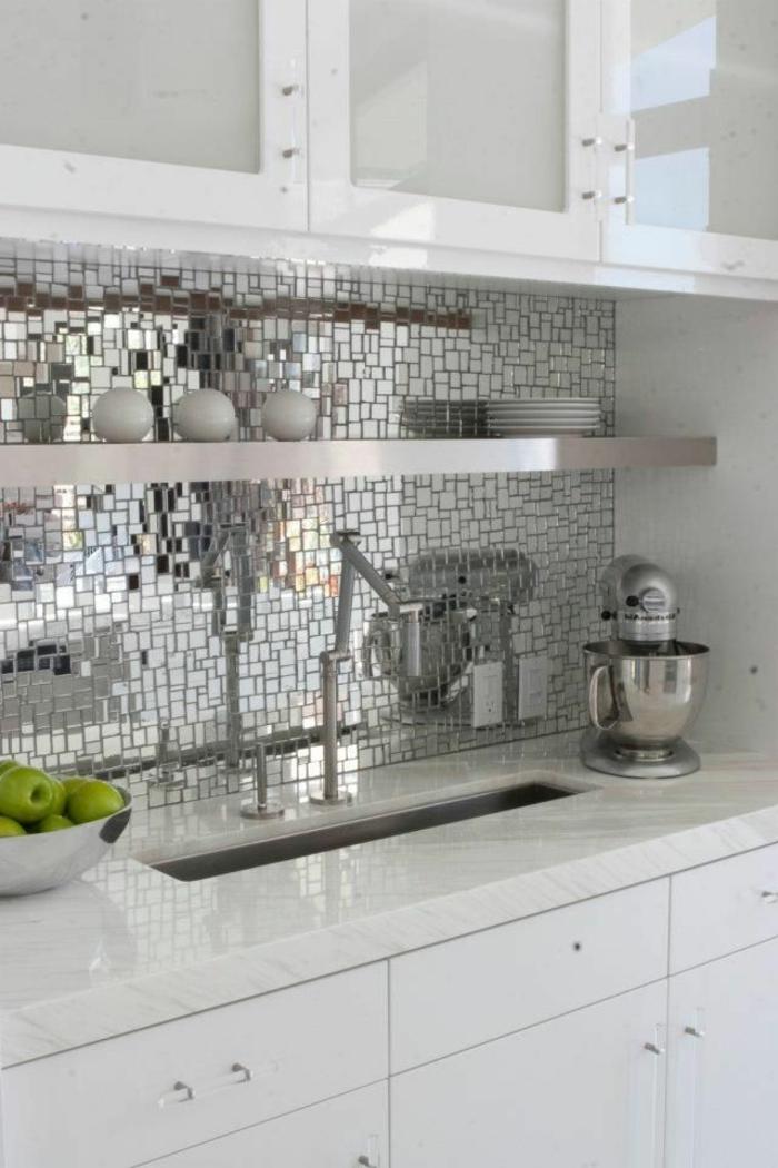 Le miroir d coratif en 50 photos magnifiques - Adhesif deco cuisine ...