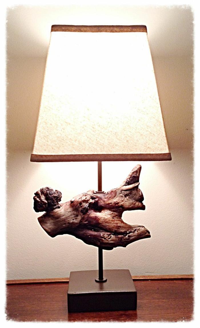 Lampe en bois flotte maison du monde for Lampe bois flotte maison du monde