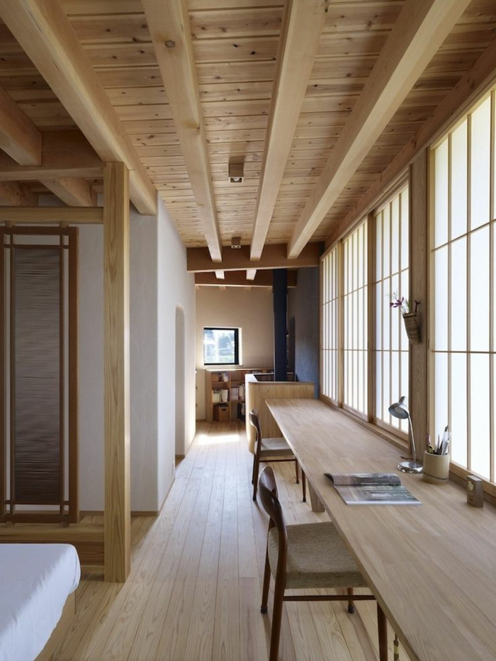 decoration-chinoise-meubles-en-bois-clair-plafond-en-bois-joli-chambre-de-style-chinois
