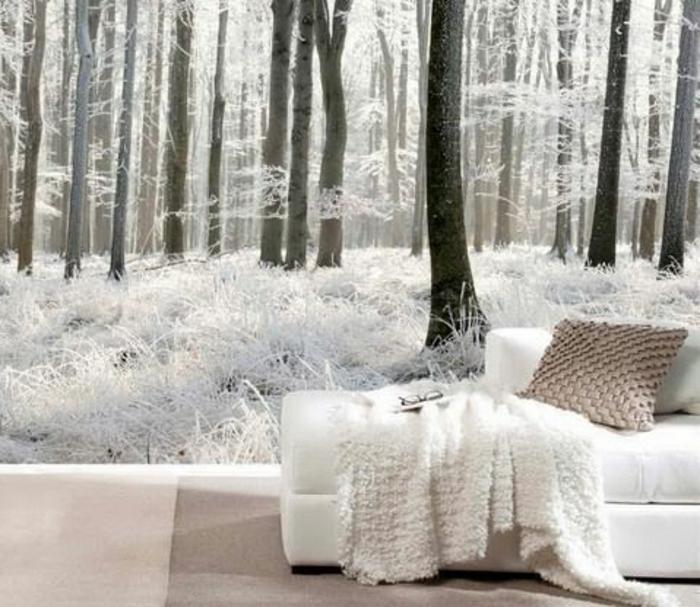 decoration-murale-papiers-peint-trompe-l-oeil-canapé-blanc-dans-le-salon-meubles-d-intérieur