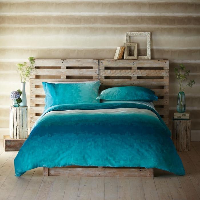 Plusieurs id es pour faire une t te de lit soi m me - Faire une tete de lit en bois ...