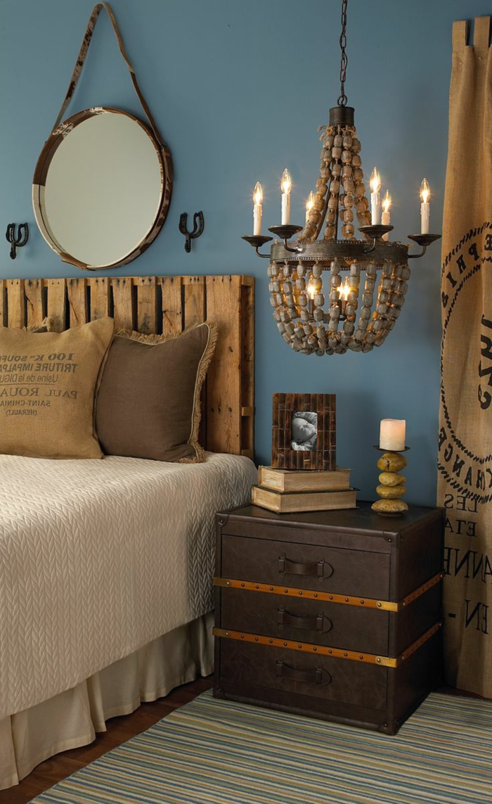 plusieurs id es pour faire une t te de lit soi m me. Black Bedroom Furniture Sets. Home Design Ideas
