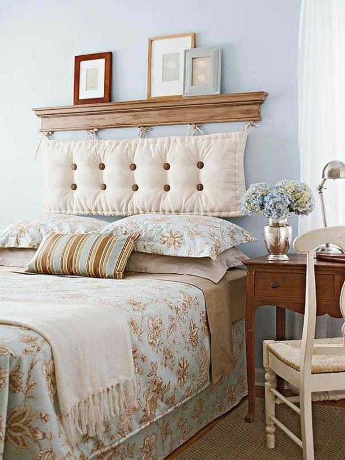 Plusieurs id es pour faire une t te de lit soi m me - Tete de lit avec coussin ...