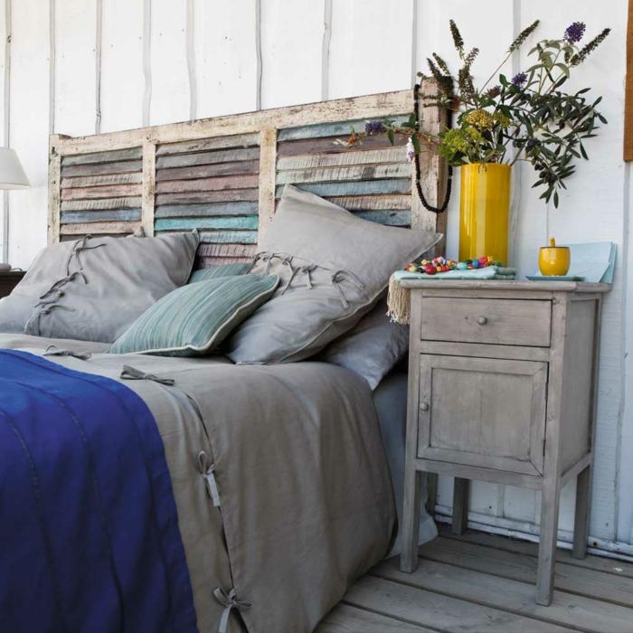 Plusieurs id es pour faire une t te de lit soi m me - Cabeceros de cama caseros ...