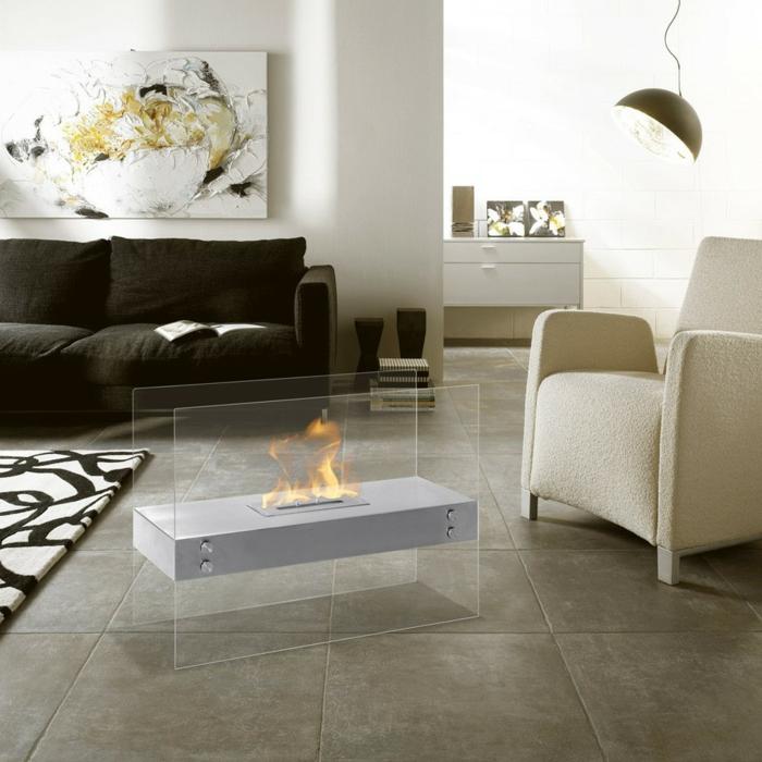 fauteuil-blanc-cheminée-rectangulaire-salon-contemporain