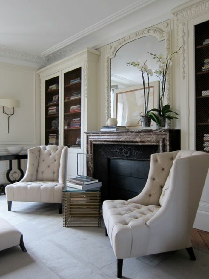 fauteuil-blanc-grande-bibliothèque-blanche