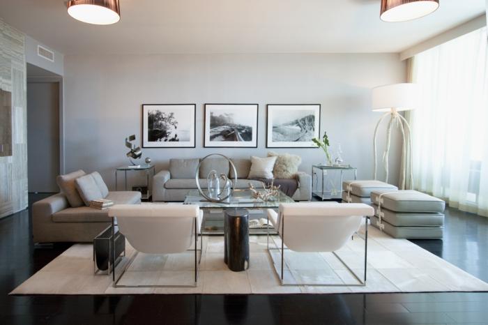 fauteuil-blanc-salle-de-séjour-moderne-fauteuils-blancs-originaux
