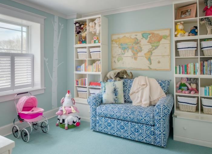 fauteuil-convertible-pour-le-salon-stylé-design-d-intérieur-chambre-bébé-bleu-et-rose