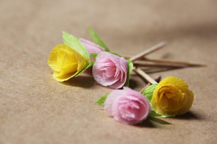 fleur-en-papier-crepon-art-origami-béauté-fleurs-petites-idée