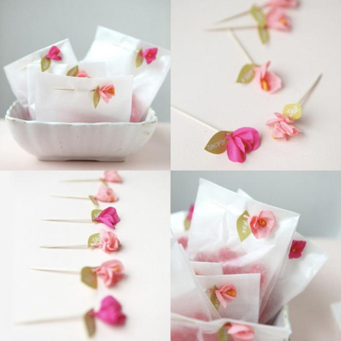 Comment cr er une fleur en papier cr pon - Papier cadeau origami ...